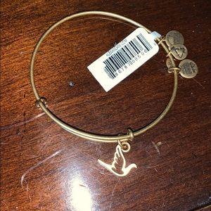 Alex and ani  gold dove bracelet